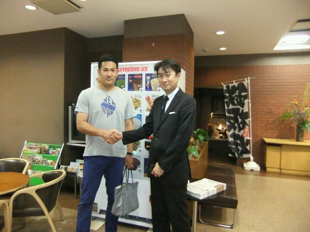 田中くん、おめでとう!